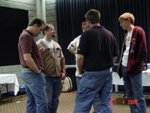 Warmup Room: Vi Wickam, Joel Whittinghill, Wes Westmoreland, Bill Jones and Doug Fleener