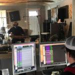 Darren at the controls, Stout Studio (photo: Vi Wickam)